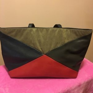 NEIMAN MARCUS PATCHWORK TOTE
